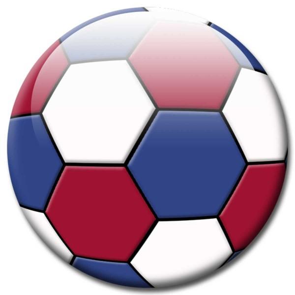 Magnet Fußball - Flagge Niederlande - Ø 5 cm