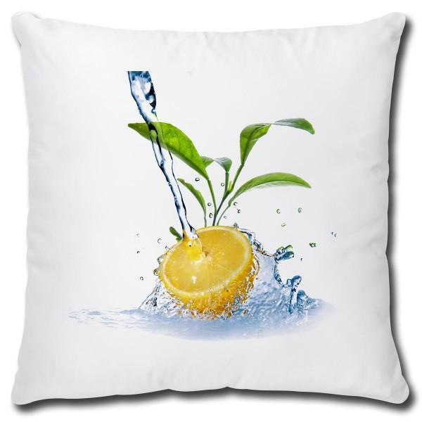 Zitrone Water Splash, Kissen 40x40 cm