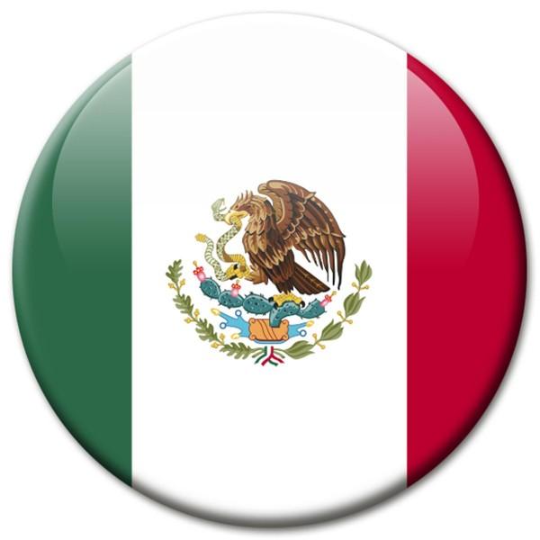 Flagge Mexiko, Magnet 5 cm