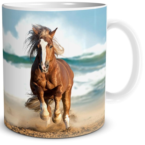 """Tasse mit Pferdemotiv """"Pferd am Meer"""""""