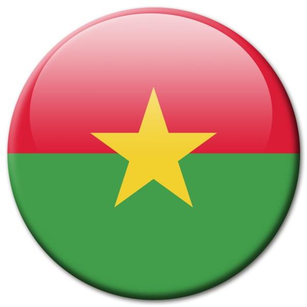 Flagge Burkina Faso, Magnet 5 cm