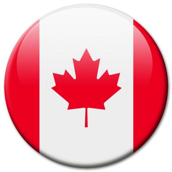 Flagge Kanada, Magnet 5 cm