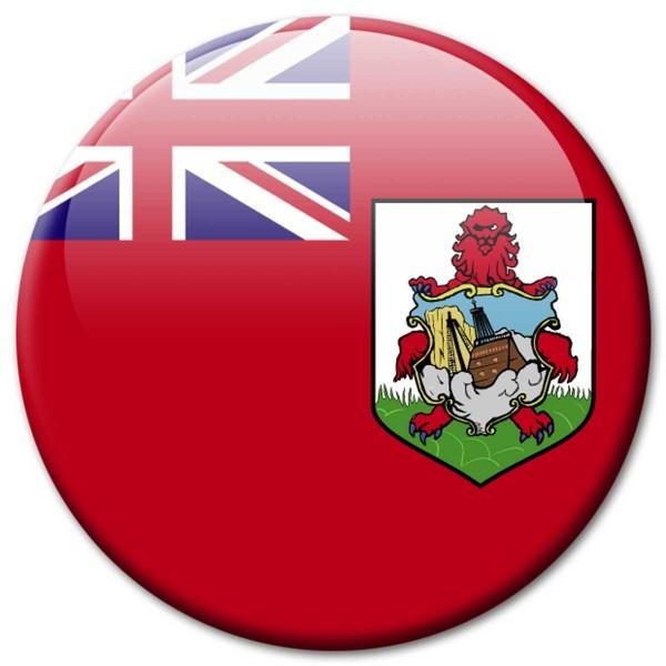 Flagge Bermuda, Magnet 5 cm