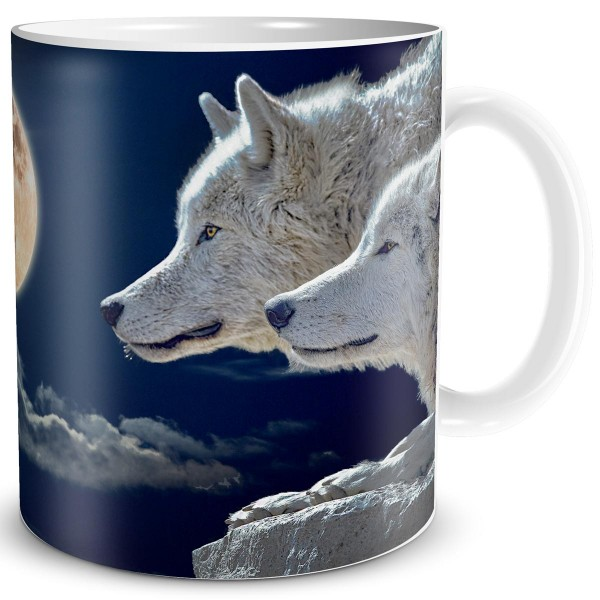 Mond Wölfe, Fantasy Tasse 300 ml
