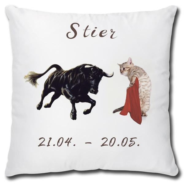 Sternzeichen Stier Katze, Kissen 40x40 cm