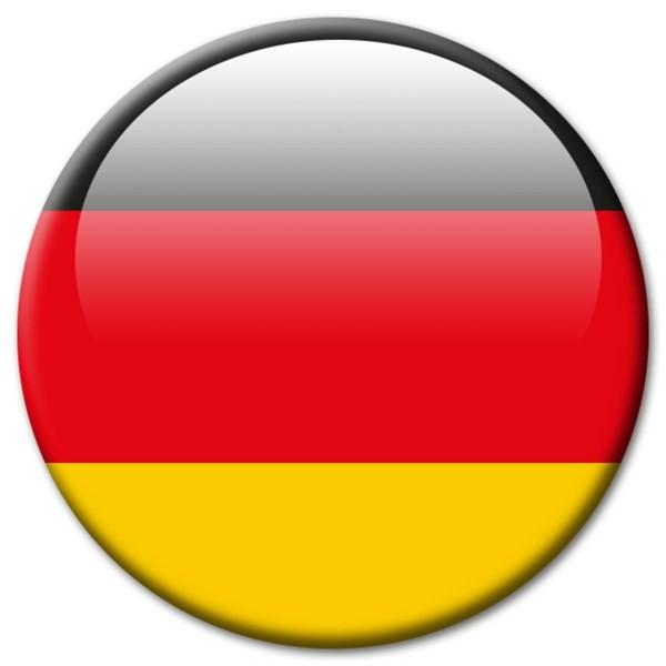 Flagge Deutschland, Magnet 5 cm