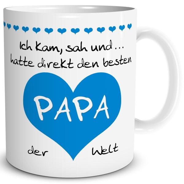 """Papa Herz """"Bester der Welt"""" Mittelblau, Tasse 300 ml"""