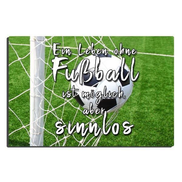 Leben ohne Fußball, Blechschild 20x30 cm