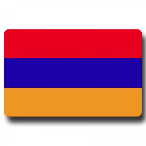 Flagge Armenien, Magnet 8,5x5,5 cm