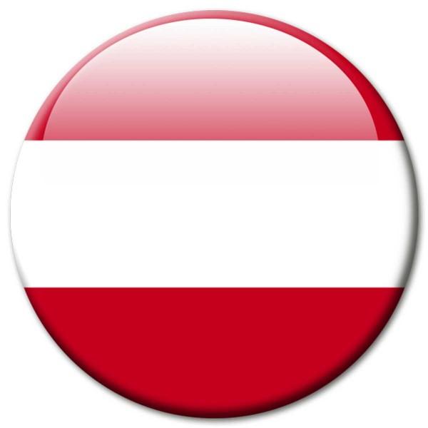 Flagge Österreich, Magnet 5 cm