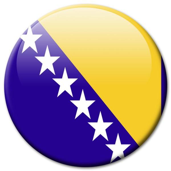 Flagge Bosnien Herzegowina, Magnet 5 cm