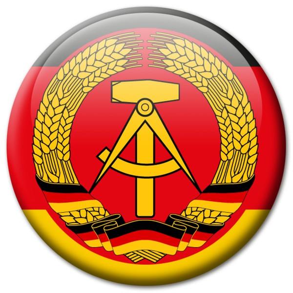 Flagge DDR, Magnet 5 cm