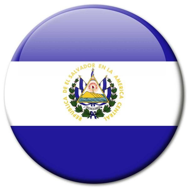 Flagge El Salvador, Magnet 5 cm