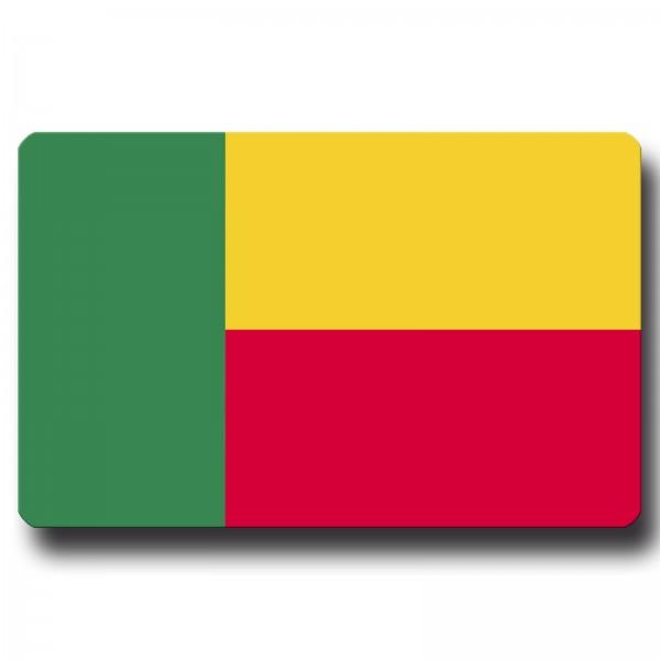 Flagge Benin, Magnet 8,5x5,5 cm