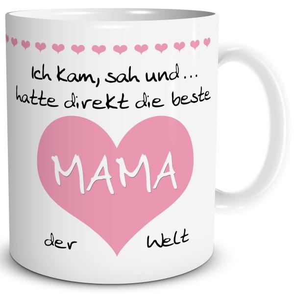 """Mama Herz """"Beste der Welt"""" Rosa, Tasse 300 ml"""