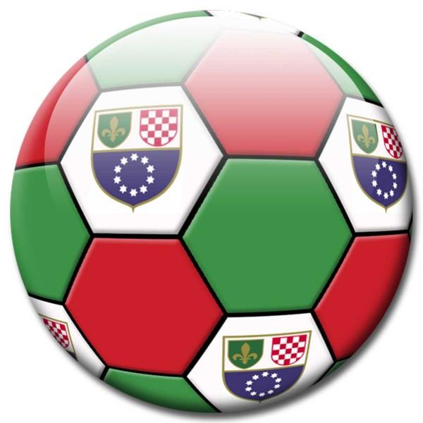 Magnet Fußball - Flagge Bosnien und Herzegowina - Ø 5 cm