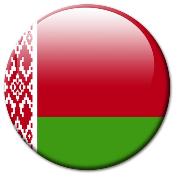 Flagge Belarus Weißrussland, Magnet 5 cm