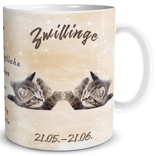 Sternzeichen Zwillinge Katze, Tasse 300 ml