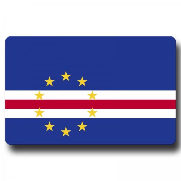 Flagge Kap Verde, Magnet 8,5x5,5 cm