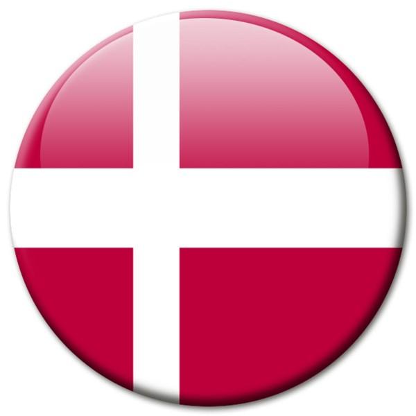 Flagge Dänemark, Magnet 5 cm