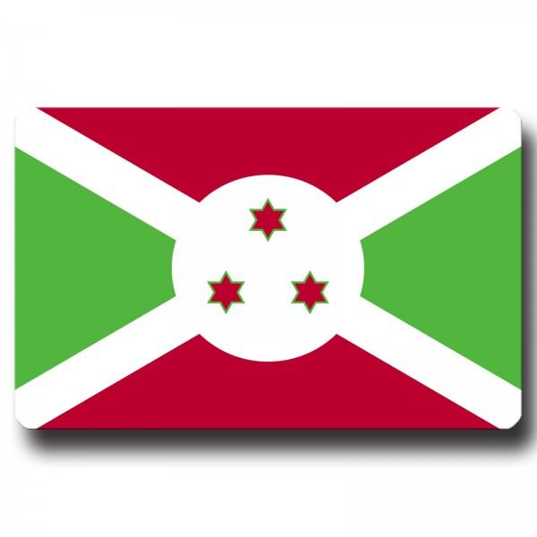 Flagge Burundi, Magnet 8,5x5,5 cm
