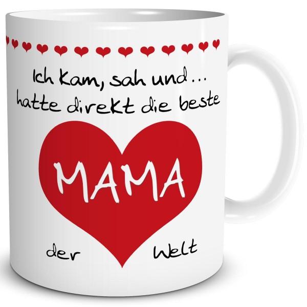 """Mama Herz """"Beste der Welt"""" Rot, Tasse 300 ml"""