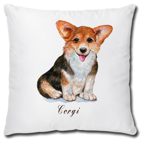 Corgi Hund, Kissen 40x40 cm