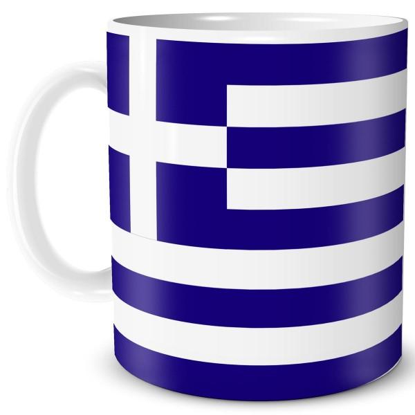 Flagge Griechenland, Tasse 300 ml