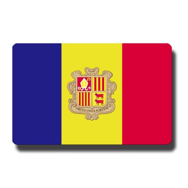 Flagge Andorra, Magnet 8,5x5,5 cm