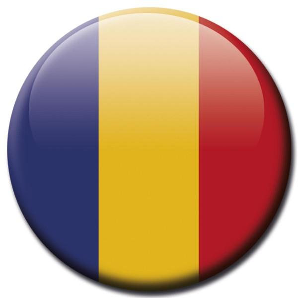 Flagge Rumänien, Magnet 5 cm