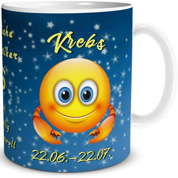 Sternzeichen Krebs Smiley, Tasse 300 ml