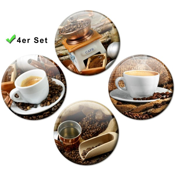 Magnete 4er-Set Kaffee Tassen - Ø 5 cm