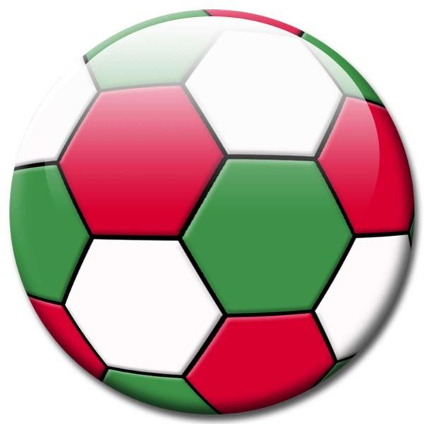 Magnet Fußball - Flagge Italien - Ø 5 cm