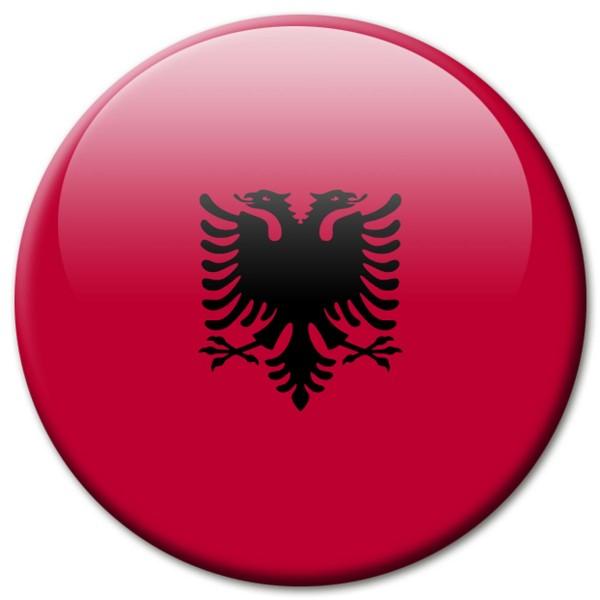 Flagge Albanien, Magnet 5 cm