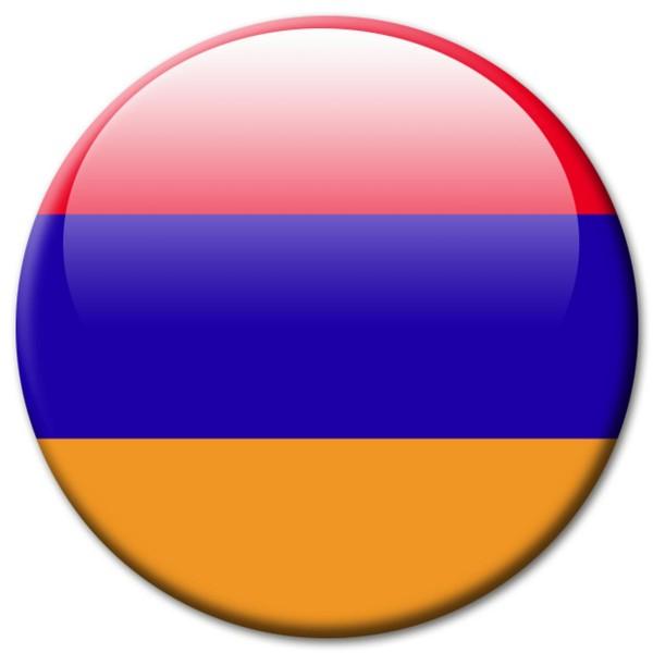 Flagge Armenien, Magnet 5 cm