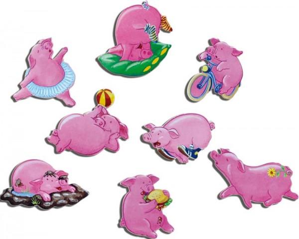 Magnete 8er-Set Schweinchen
