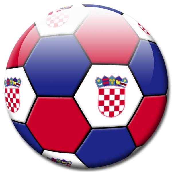 Magnet Fußball - Flagge Kroatien. Croatia Ø 5 cm