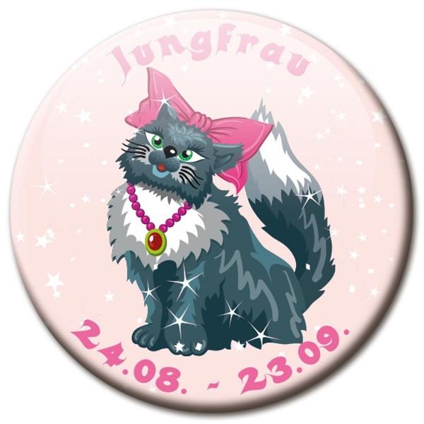 Magnet Katze - Sternzeichen Jungfrau - Ø 5 cm