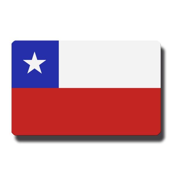 Flagge Chile, Magnet 8,5x5,5 cm