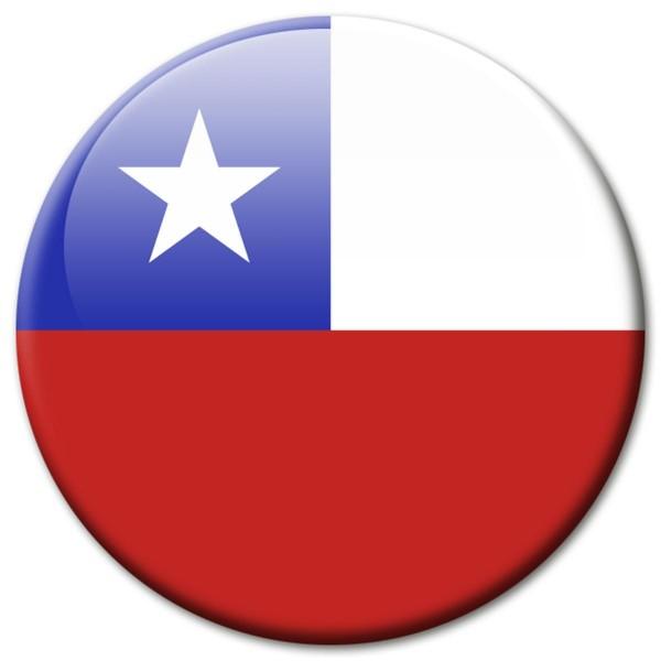Flagge Chile, Magnet 5 cm