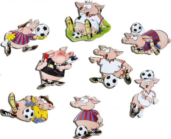 Magnete 8er-Set Fußballer-Schweinchen