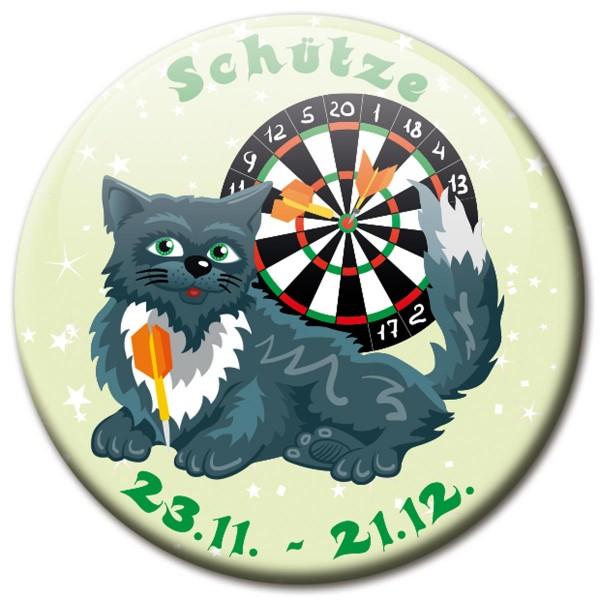 Magnet Katze - Sternzeichen Schütze - Ø 5 cm