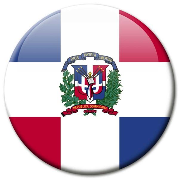 Flagge Dominikanische Republik, Magnet 5 cm