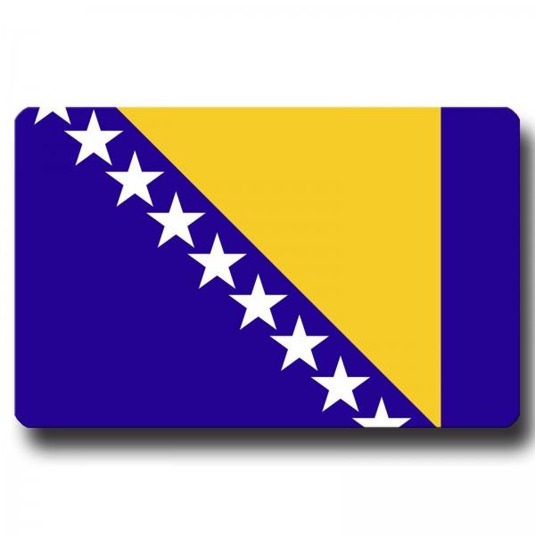 Flagge Bosnien Herzegowina, Magnet 8,5x5,5 cm
