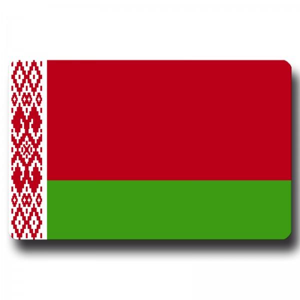 Flagge Belarus Weißrussland, Magnet 8,5x5,5 cm