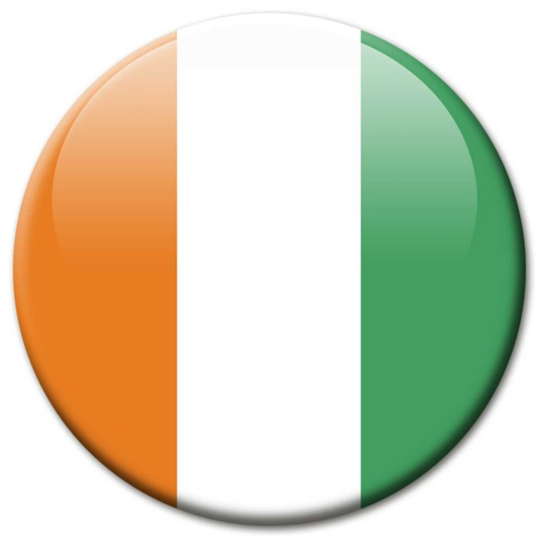Flagge Elfenbeinküste, Magnet 5 cm