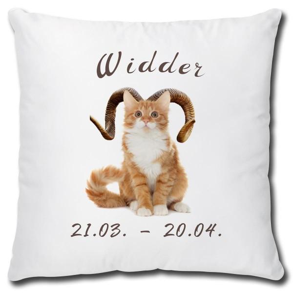 Sternzeichen Widder Katze, Kissen 40x40 cm