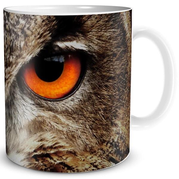Eulenblick Red Eyes, Fantasy Tasse 300 ml