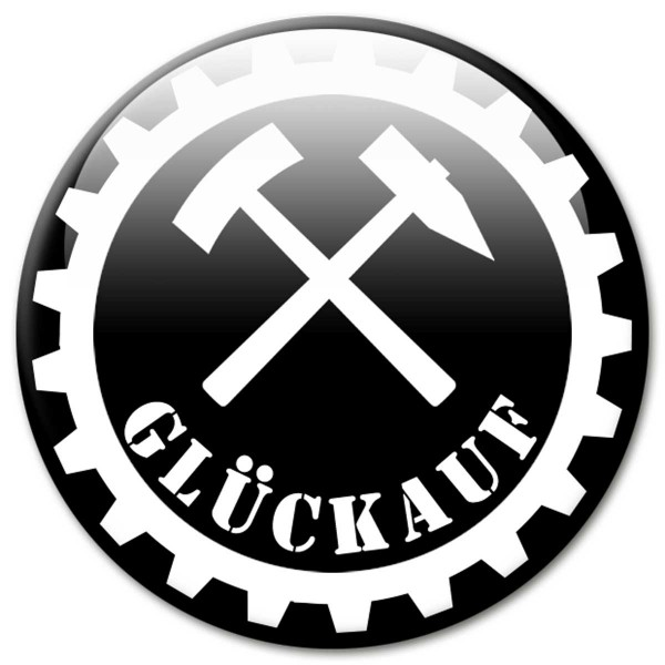 Fan Magnet Region Glückauf Schwarz - Ø 5 cm
