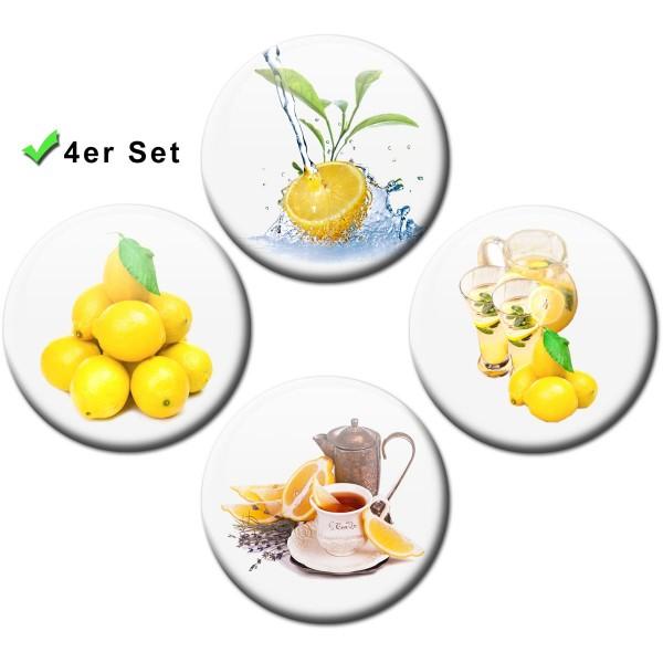 Magnete 4er-Set Zitronen - Ø 5 cm